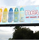 Pixellent brand development material for neurodrinks billboard advertisement