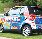Pixellent brand development material for neurodrinks car wrap