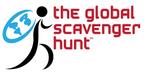 pixellent branding for the global scavenger hunt main logo design