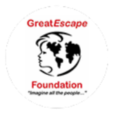 pixellent logo design for great escape foundation main brand logo development
