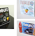 Pixellent marketing support material for neurodrinks event pos table tents