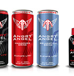 Pixellent Packaging concept design for Angry Angel energy drinks and shot