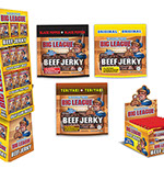Pixellent Packaging concept design for big league beef jerky floor display packet counter top display box