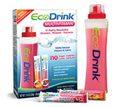 Pixellent Packaging concept design for ecodrink bottle and drink mixes
