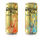Pixellent Packaging concept design for Ginsseng Plus korean ginseng drinks
