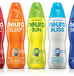Pixellent Packaging concept design for neurodrinks custom bottle shape