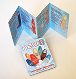 Pixellent sales support material for neurodrinks 3x4 folded handout brochure