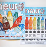 Pixellent sales support material for neurodrinks pos sell sheet
