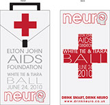 Pixellent special event material for neurodrinks Elton John Aids Foundation custom Gift Box
