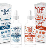 Pixellent Packaging package design and layout design for magic life hemp extract and mct oil drops for human and pet consumption