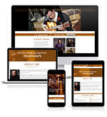 Pixellent website style design and development for Higginzuela Music Bill Higgins Musician